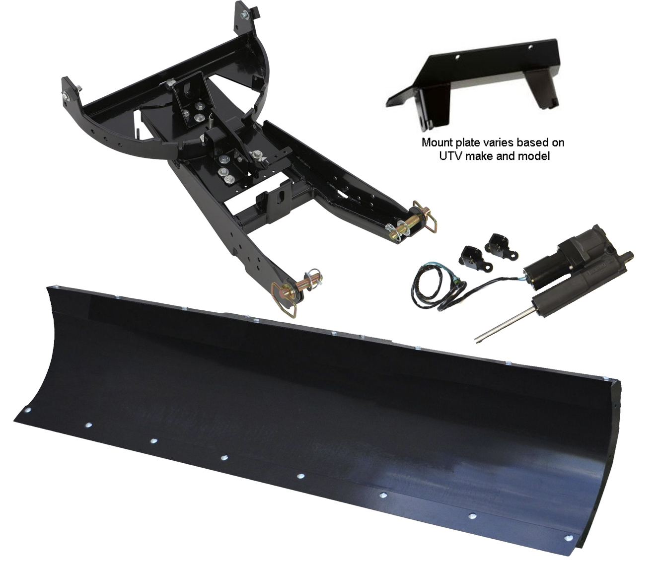 72 inch DENALI UTV Snow Plow Kit and Hydroturn for 2012-2018 RZR 570 and 570-S